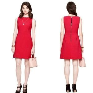 {00} Kate Spade Stretch Crepe Aline Red Dress